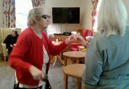 Residents dancing during their recently afternoon of music.