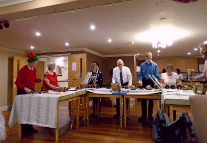 Bell ringers visit Penwortham Grange and Lodge to perform for it's residents.
