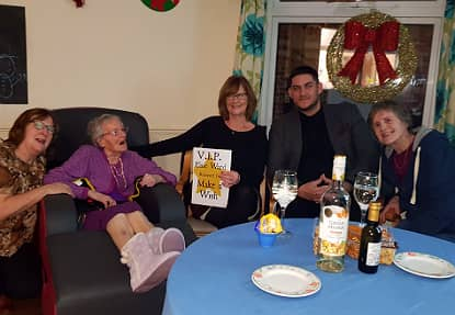 Elsie Enjoying her VIP table with her family.