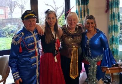 Staff posing in their fabulous fancy dress!