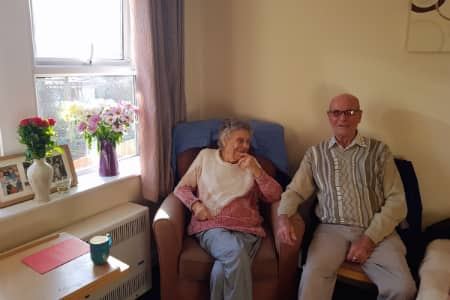 Resident Shirley and her Husband Edwin