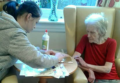 Residents get creative with the Prince's Trust.