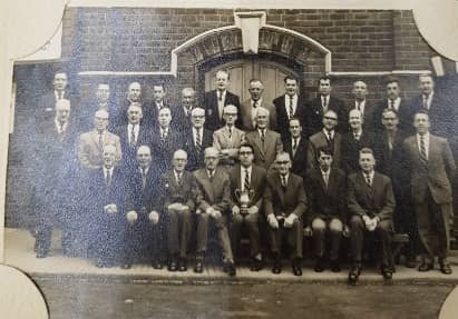 Tom pictured with the Castleford Male Voice Choir, back when he was 21!
