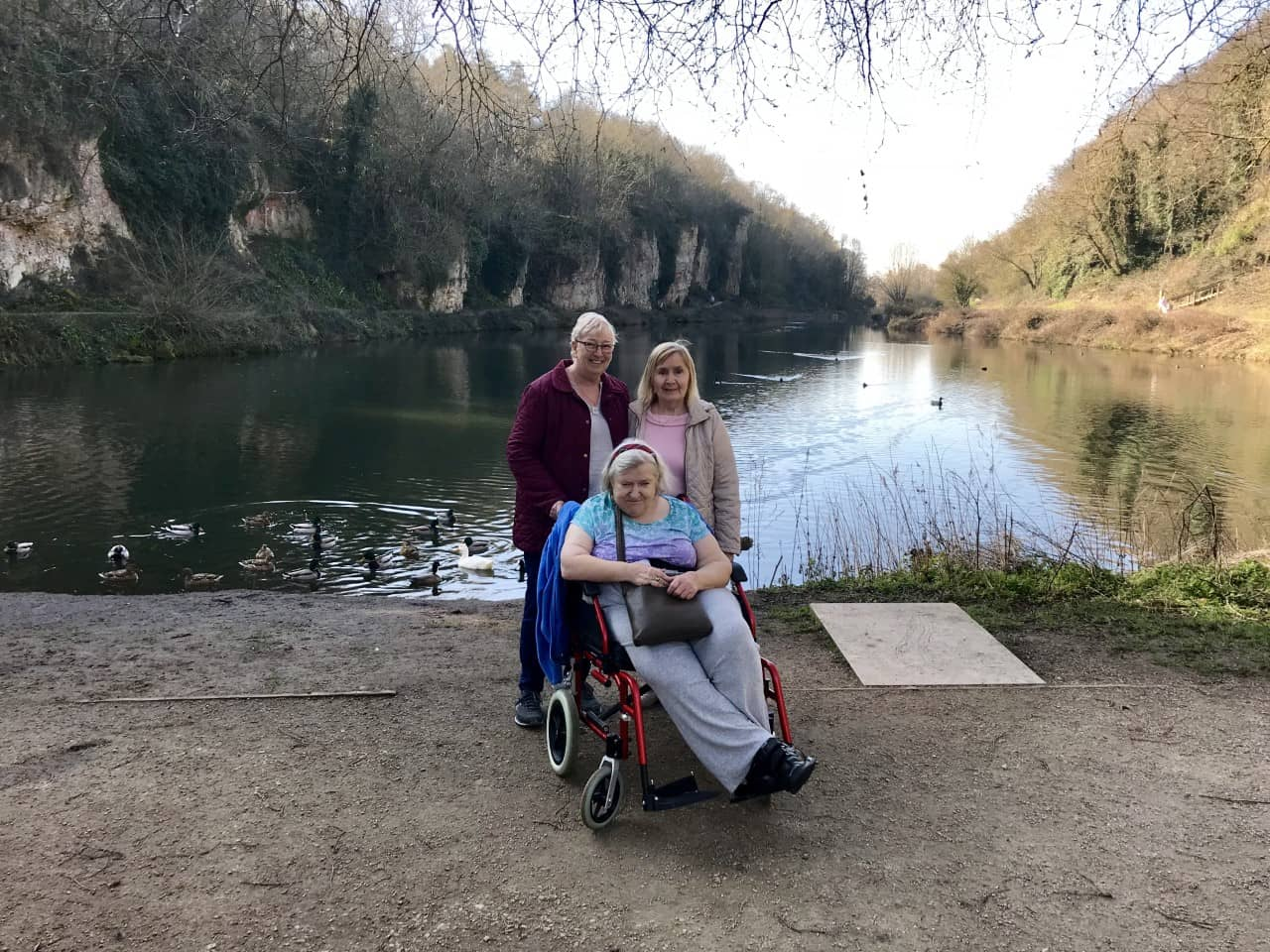 Residents at Creswell Crags