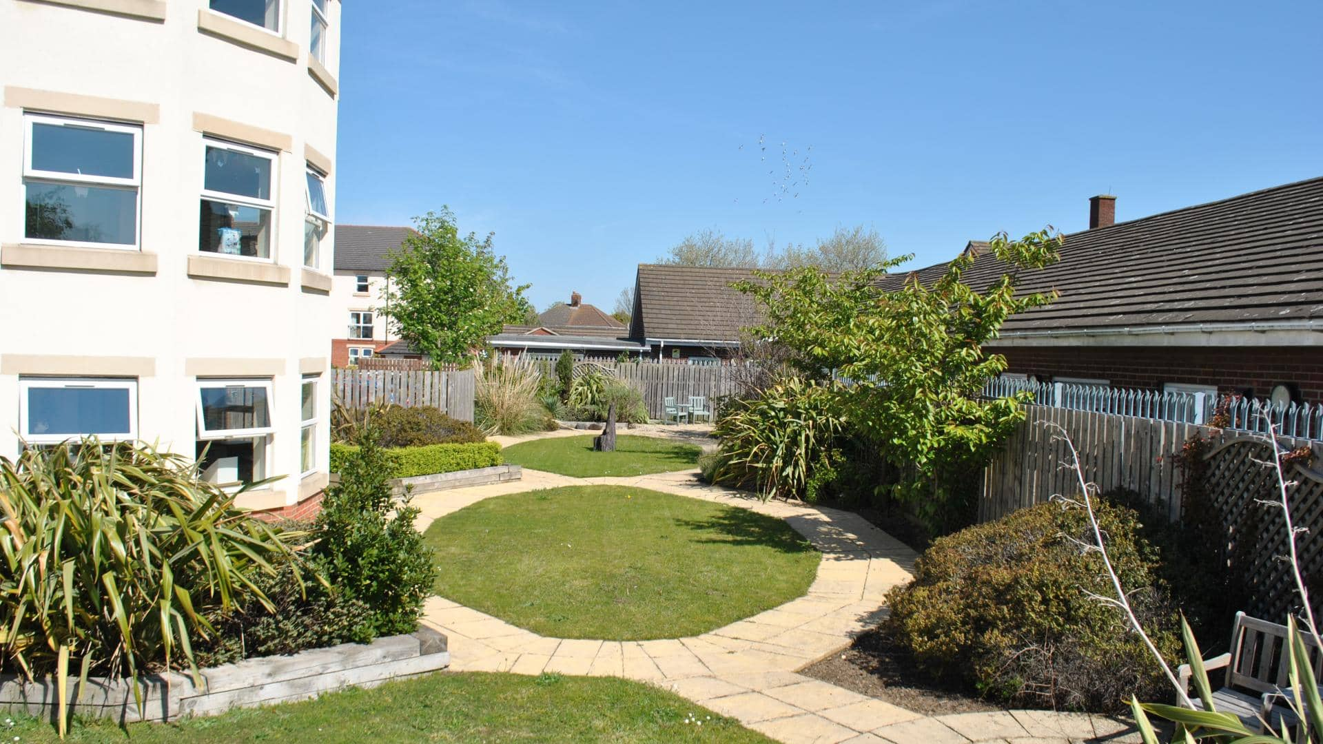 Garden at Grimsby Grange and Manor Care Home