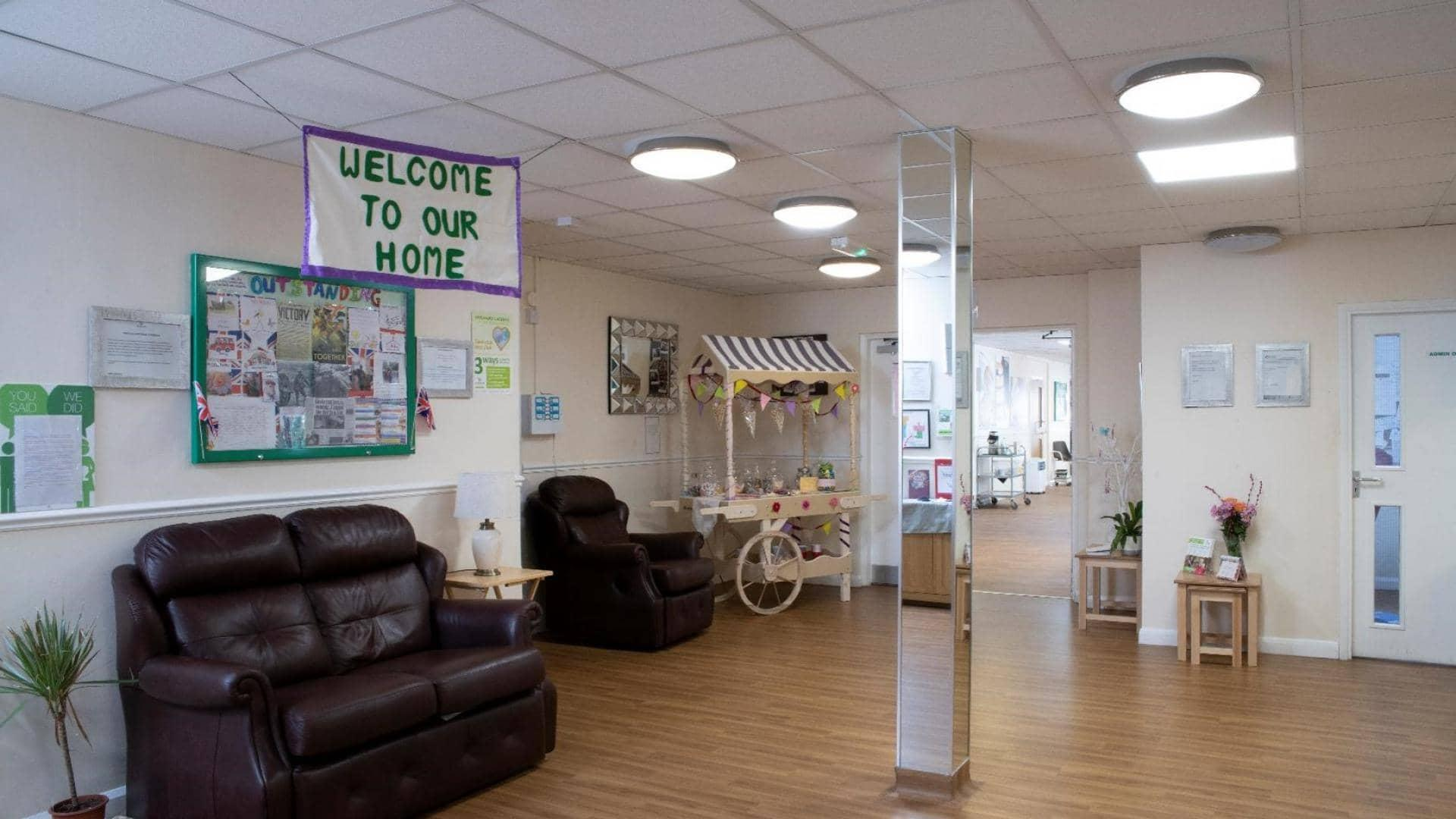 Chatsworth Lodge Care Home Entrance.