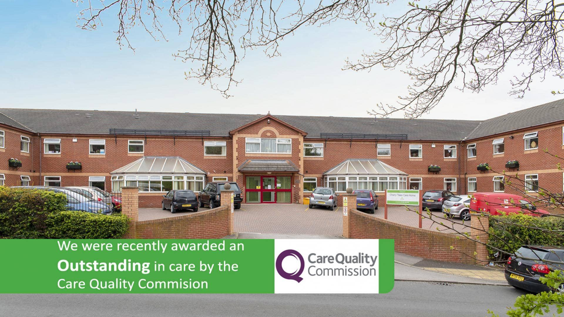 Cherry Trees Care Home - Rotherham Care Home - Outstanding CQC Care.