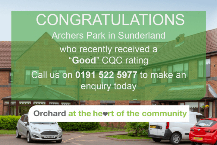 Archers Park Care Home - Sunderland - Good CQC.
