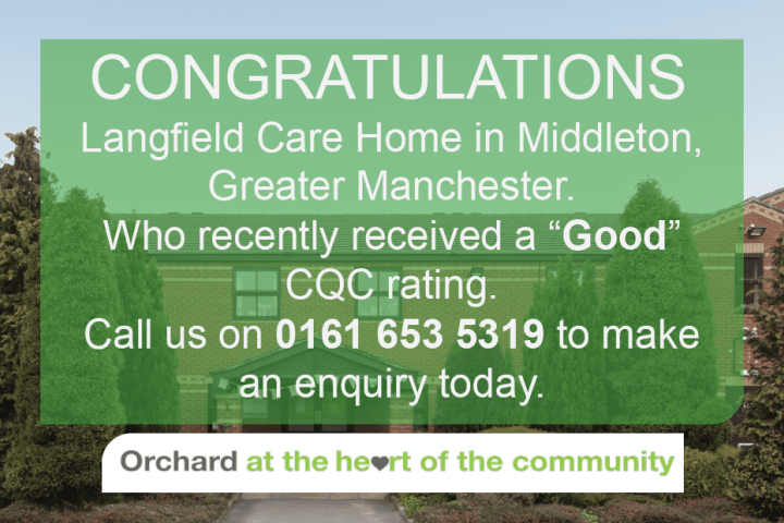 Langfield Care Home - Manchester Care Home - Good CQC