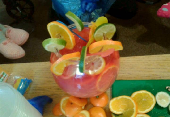 A very fruity Mocktail bowl!