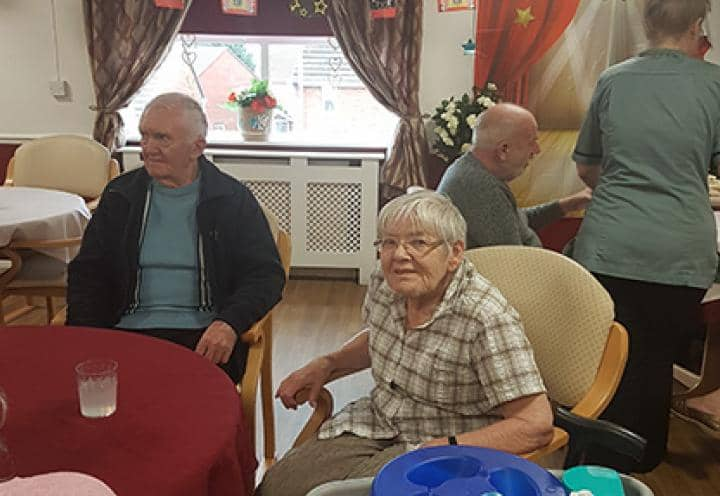 Residents celebrating St.Davids day.