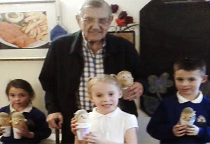 Children with a residents at Nesfield Lodge.