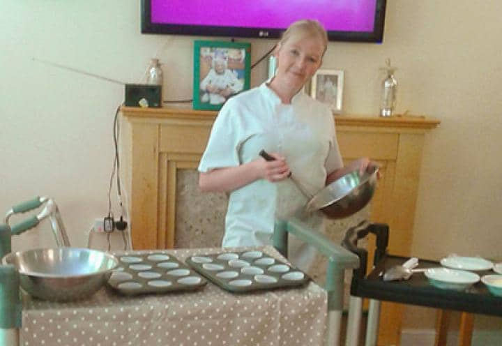 Shelly, Head Cook at Sutton Hall & Lodge, leading the bake off.