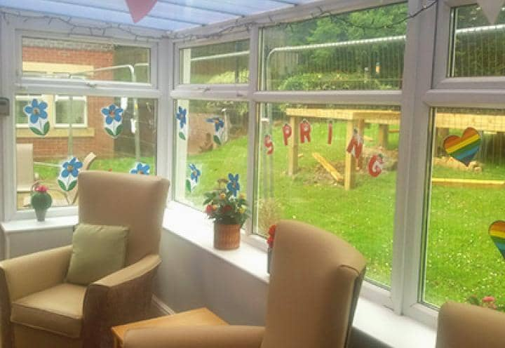 Decorated conservatory at Penwortham Grange & Lodge.