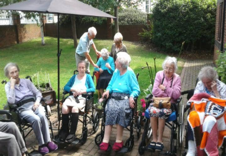 residents enjoying themselves at the summer fair