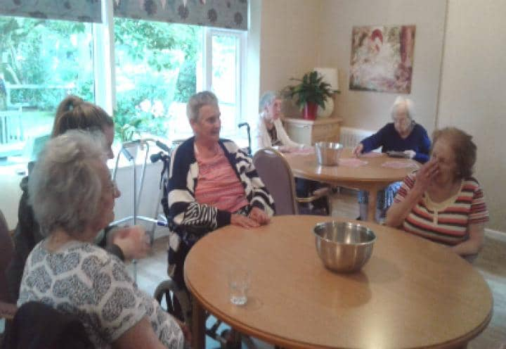 Residents enjoying socialising with each other