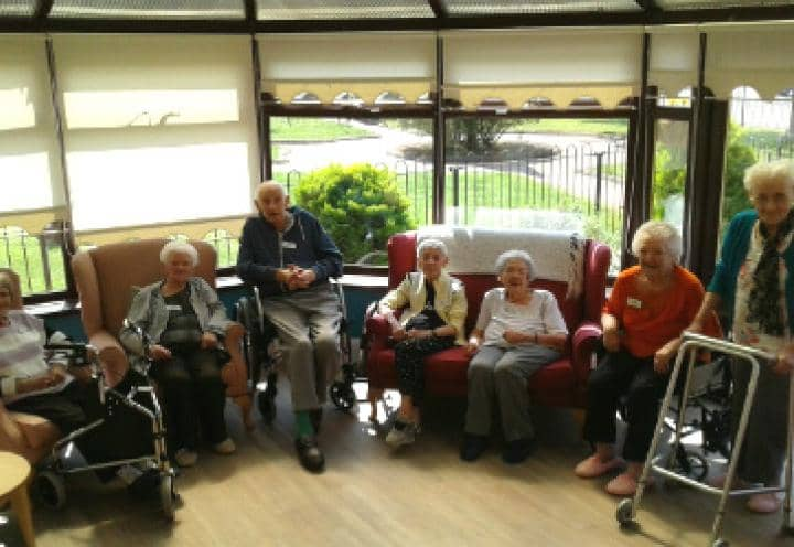 Residents sat at their committee meeting
