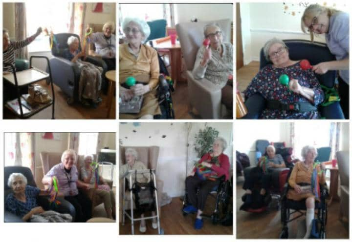 residents playing their instruments