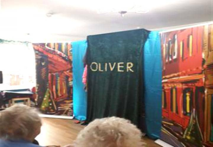 the set up by the panto team.