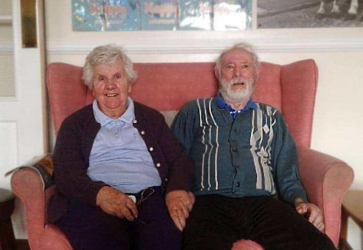 Gordon and Margaret sitting together.