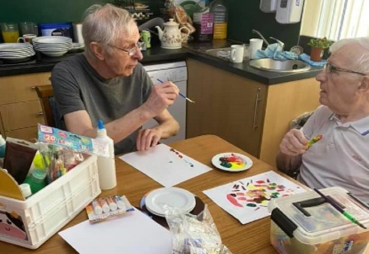 residents painting.