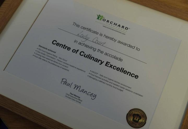 Centre of Culinary Excellence Award